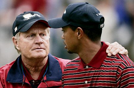 Jack Nicklaus muestra su apoyo hacia Tiger Woods.