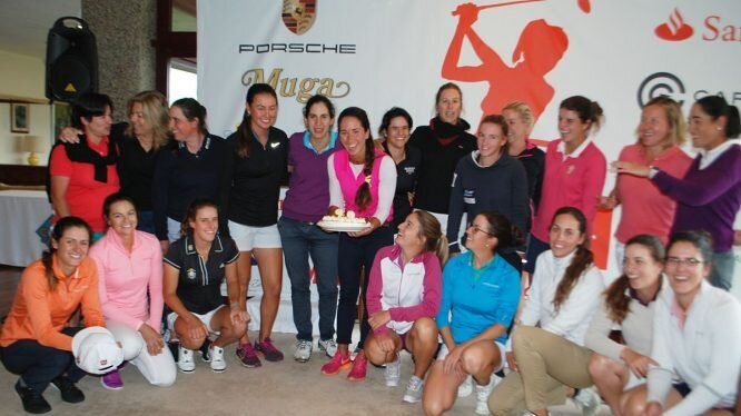 Las jugadoras españolas del Santander Tour en La Peñaza.