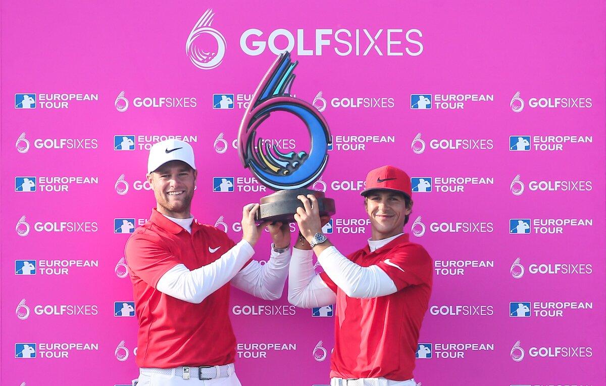 Thorbjorn Olesen y Lukas Bjerregaard, ganadores del GolfSixes. © Golffile | David Lloyd