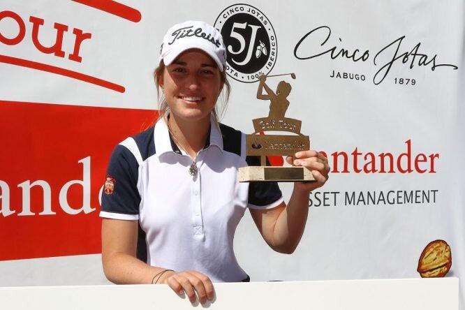 Luna Sobrón, ganadora de la primera prueba del Santander Tour. © Fernando Herranz