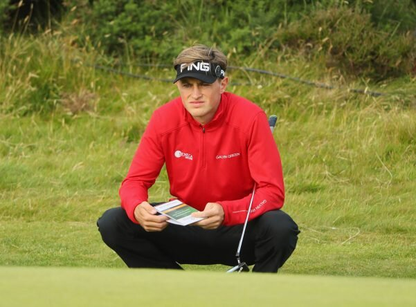 TROON, SCOTLAND - JULY 14: Paul Howard of England prepares to putt on the 12th green during the first round on day one of the 145th Open Championship at Royal Troon on July 14, 2016 in Troon, Scotland. (Photo by Andrew Redington/Getty Images)