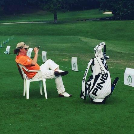 Miguel Ángel Jiménez, tras colocarse líder en el Tradition. © PGA Tour Champions