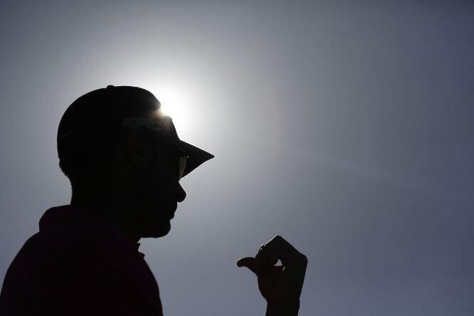 Álvaro Quirós, hoy durante la tercera ronda del The Rocco Forte Verdura Open. © Golffile | Fran Caffrey