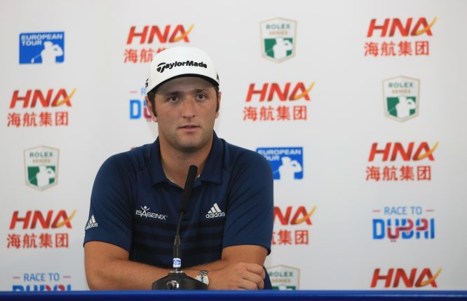 Jon Rahm of Spain is pictured diuring a press conference at the HNA Open de France at Le Golf National on June 27, 2017 in Paris, France. (Photo by Andrew Redington/Getty Images)