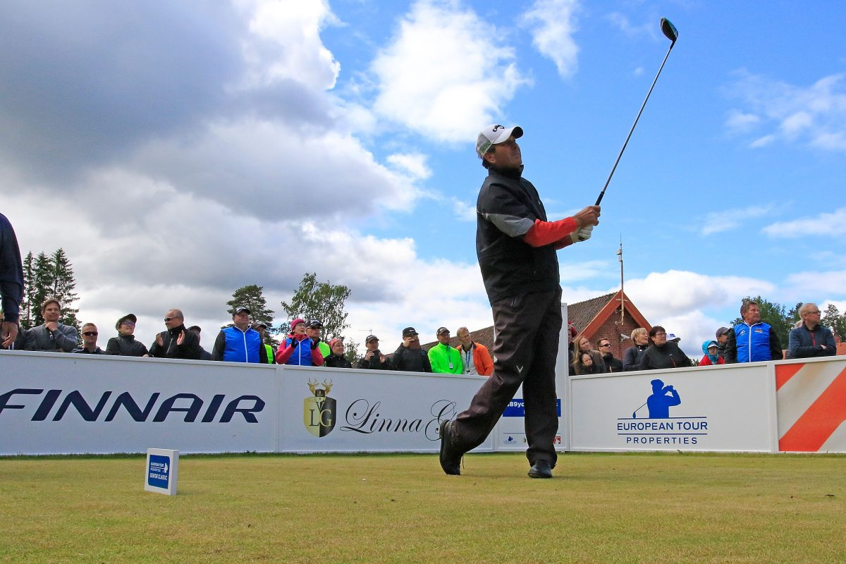 Santiago Luna of Spain in action during the final round of the European Tour Properties Senior Classic played at Linna Golf on June 23, 2017 in Harviala Hameenlinna, Finland.  (Photo by Phil Inglis/Getty Images)