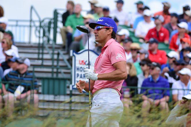 Rafael Cabrera Bello durante la ronda final en Erin Hills. © Golffile | Ken Murray