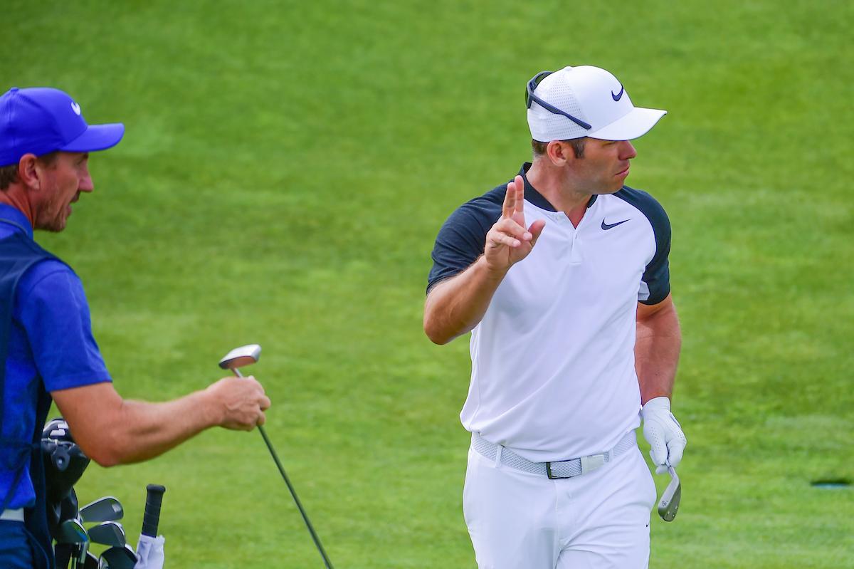 Paul Casey , uno de los líderes de la 2ª ronda en Erin Hills. © Golffile | Ken Murray