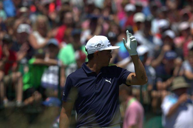 Rickie Fowler, ayer durante la segunda vuelta del US Open. © Golffile | Eoin Clarke
