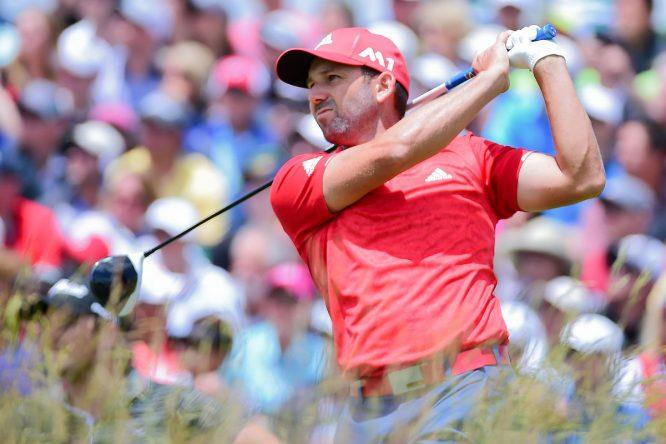 Sergio García, hoy durante la última ronda del US Open. © Golffile | Ken Murray