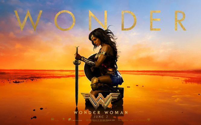 El cartel de la película Wonder Woman.