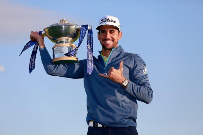 Rafa Cabrera Bello, ganador del Open de Escocia. © Golffile | Fran Caffrey
