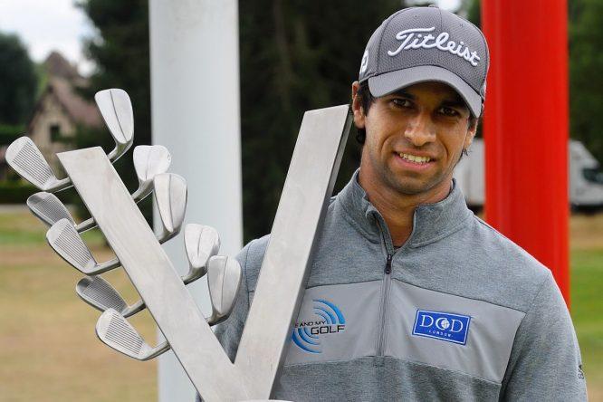 Aaron Rai, ganador del Le Vaudreuil Golf Challenge. © Twitter Challenge Tour