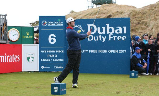 Jon Rahm durante la ronda final en Portstewart. © Golffile | David Lloyd
