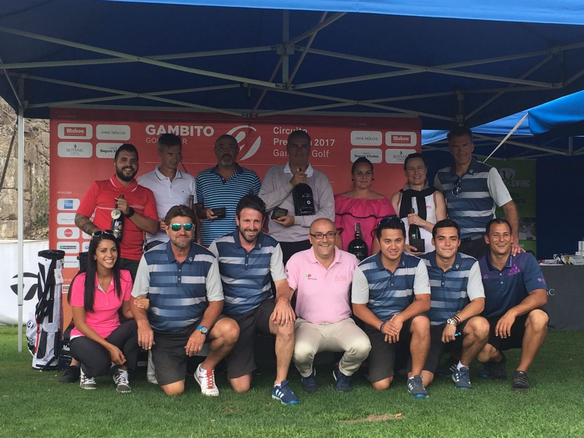 Ganadores del Circuito Premium 2017 que organiza Gambito Golf .