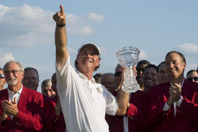 Scott McCarron, ganador del Senior Players. © Twitter PGA Tour Champions