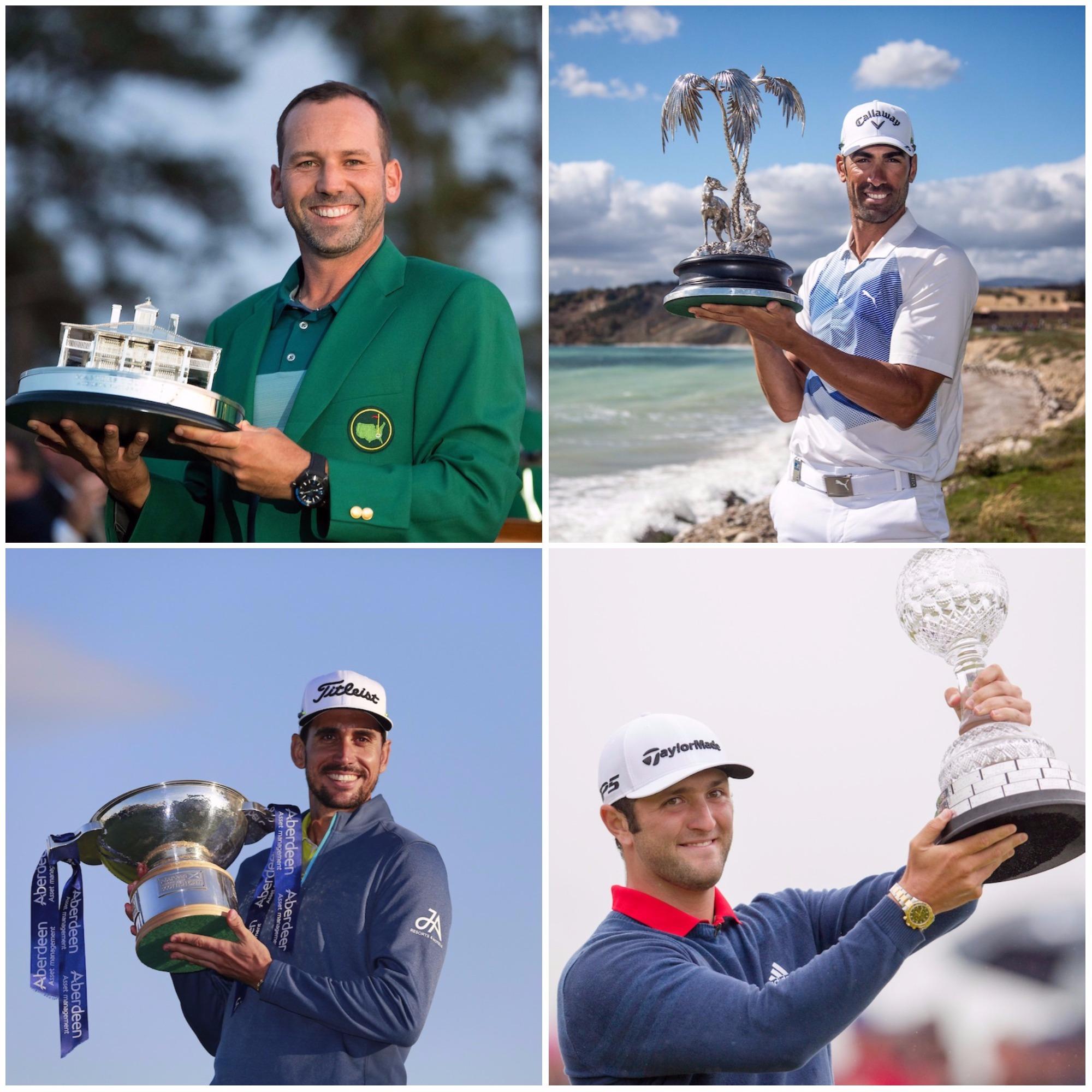 Triunfos españoles en 2017. © Golffile