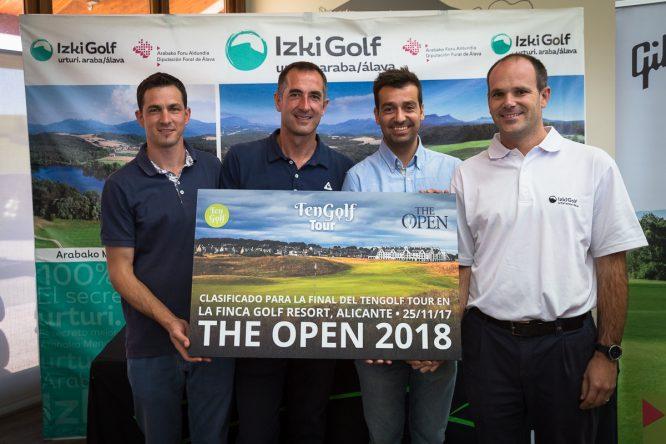 Los ganadores de Tengolf Tour en Izki Golf. © Hugo Alcalde
