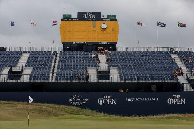 El viento está soplando completamente diferente a ayer hoy en el Open. © Golffile | David Lloyd