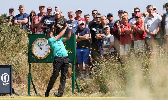 Pablo Larrazábal, durante la vuelta de prácticas en Royal Birkdale. © Golffile | David Lloyd
