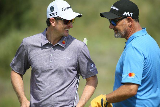 Justin Rose y su famoso gafe en el The Open. © Golffile | David Lloyd