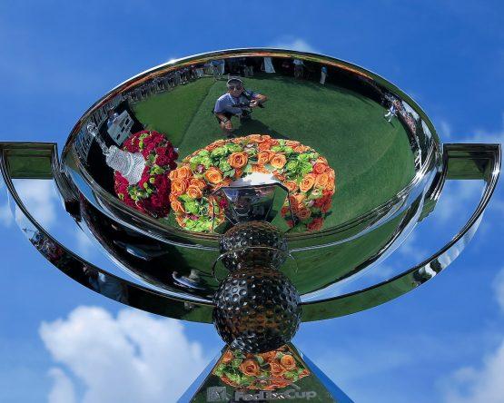 El trofeo de campeón de la FedEx Cup. © Golffile
