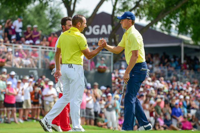 Sergio García jugará con Jordan Spieth y Brooks Koepka las dos primeras rondas en el PGA. © Golffile | Ken Murray