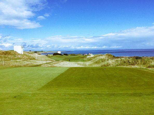 El hoyo 1 del Kingsbarns Golf Links. © Twitter Ricoh Women's British Open