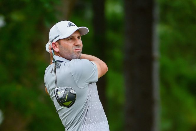 Sergio García, durante la segunda ronda del PGA Championship. © Golffile | Ken Murray