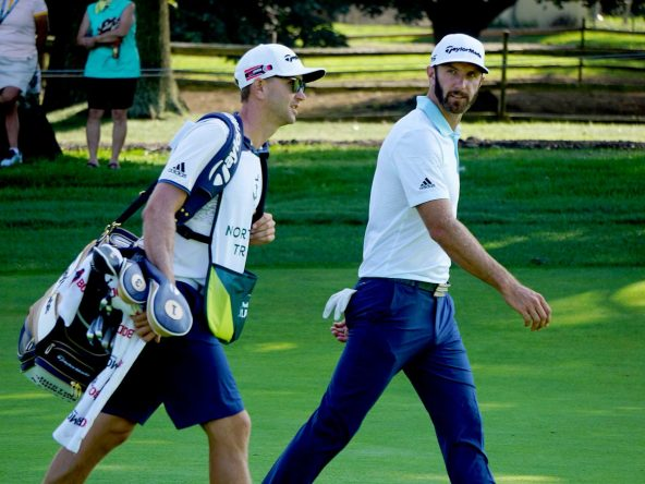 Dustin Johnson, durante la ronda de ayer en el Northern Trust. © PGA Tour
