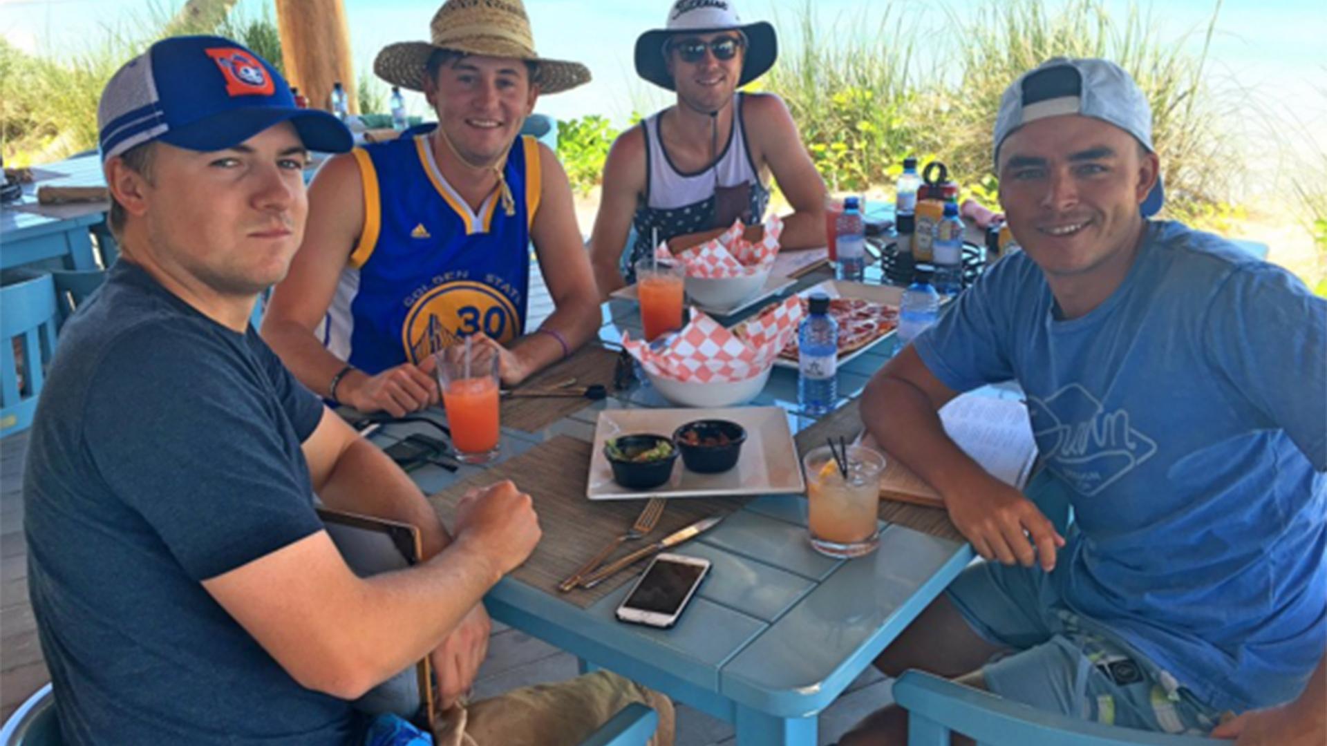 Spieth, Thomas, Fowler y Kaufmann, de vacaciones en las Bahamas.