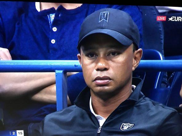 Tiger Woods, en el palco de Rafa Nadal en la pista Arthur Ashe de Nueva York.