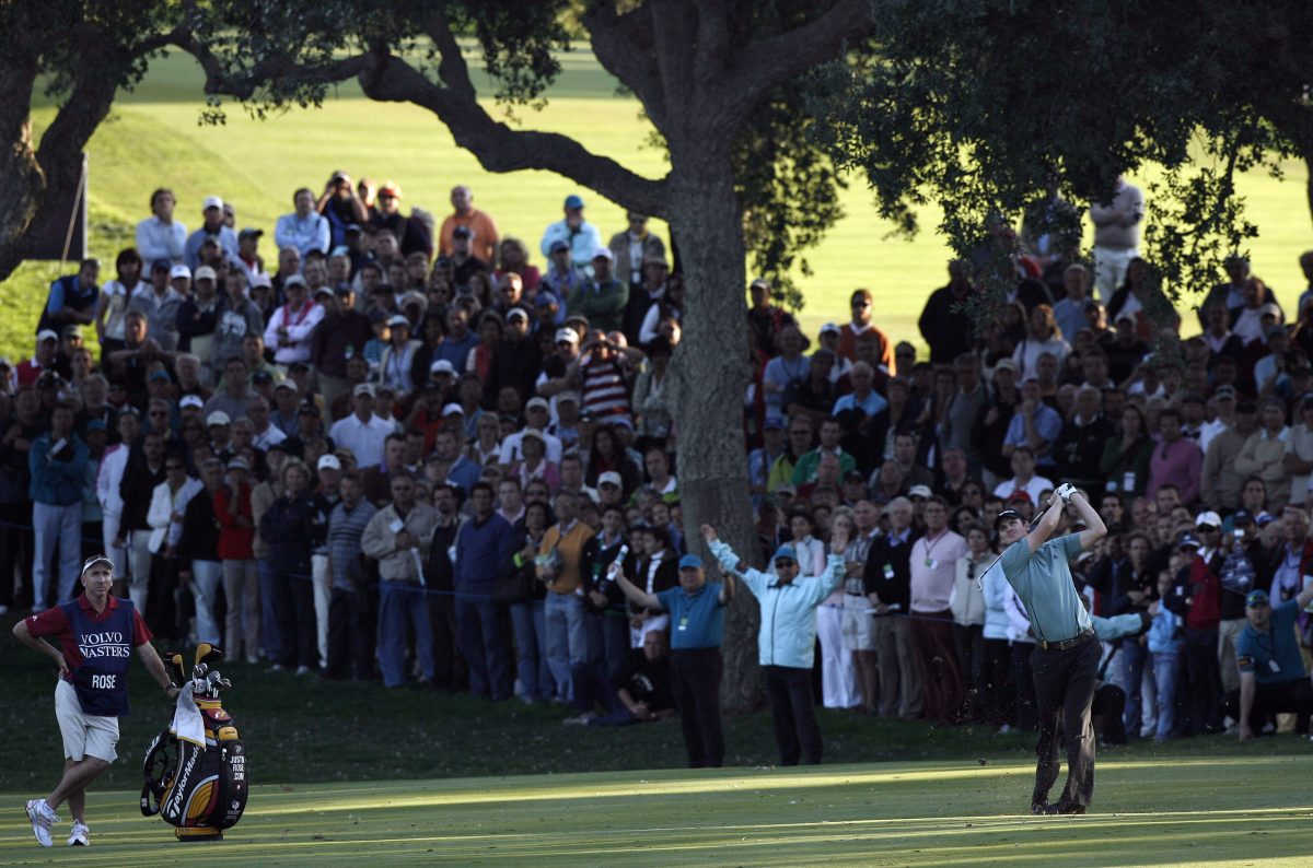 Justin Rose of England pictured during the final day of the Volvo Masters at the Valderrama Golf Club, Sotogrande, Spain, 04 November, 2007. Picture by Paul Lakatos/Volvo Event Management.