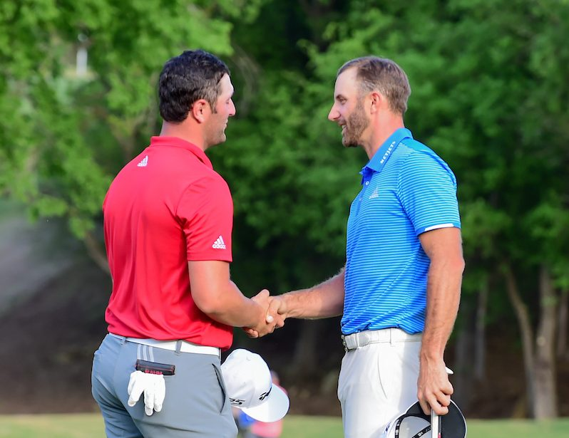 Dustin Johnson y Jon Rahm. © Golffile   Ken Murray