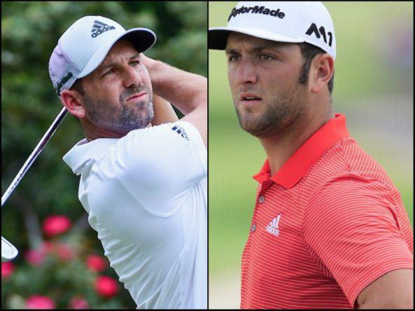 Sergio García y Jon Rahm, frente a dos gestas en Atlanta. © Golffile