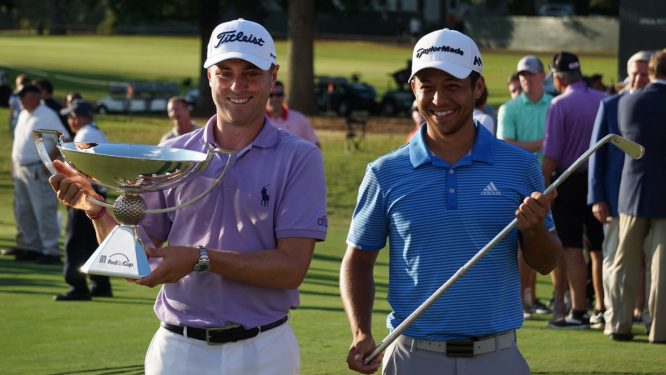 Justin Thomas y Xander Schauffele, los dos grandes vencedores de la Final de la FedEx Cup. © PGA Tour