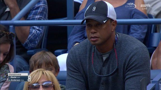 Tiger Woods, el palco de Rafa Nadal durante la final del US Open.