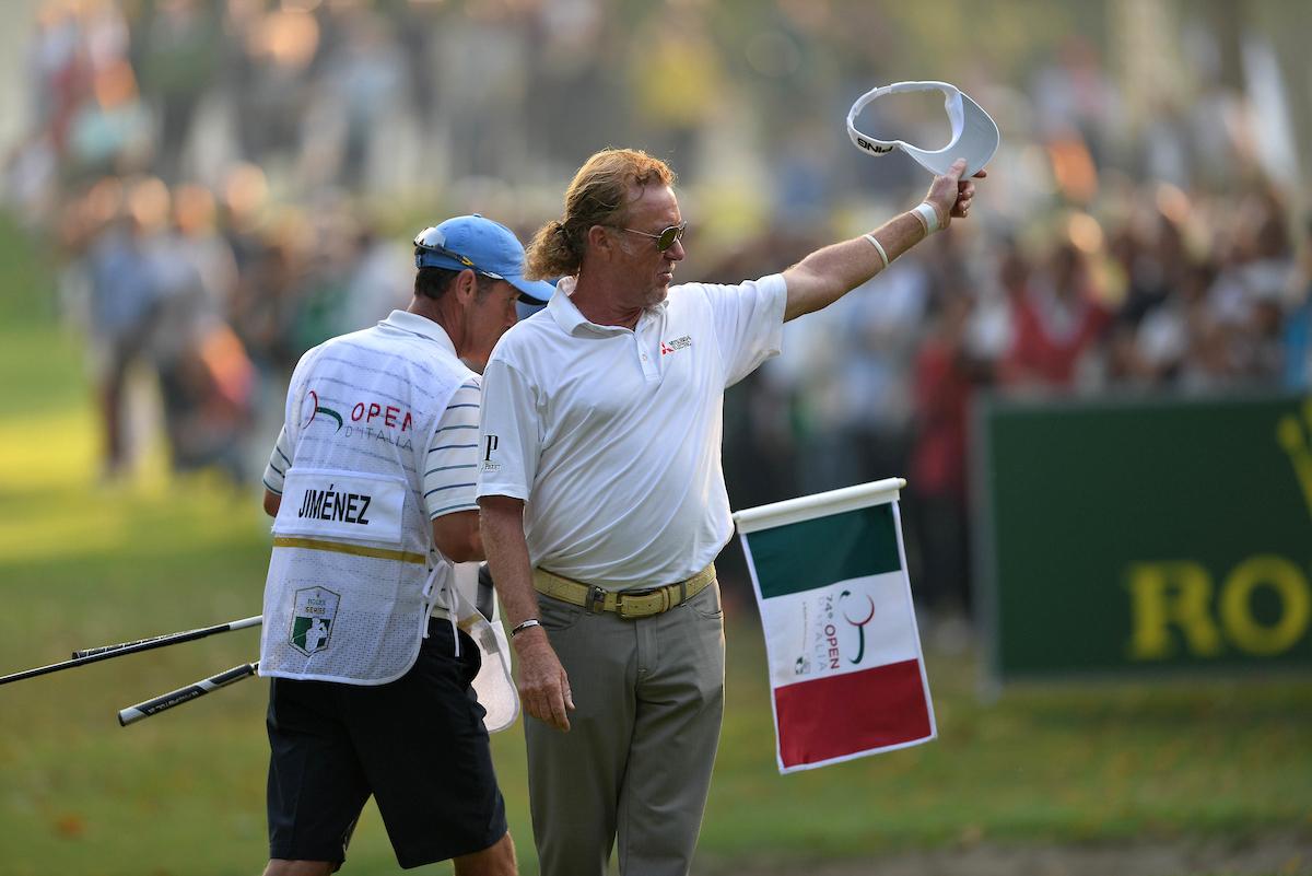 Miguel Ángel Jiménez esta semana en el Golf Club Milano. © Golffile | Claudio Scaccini