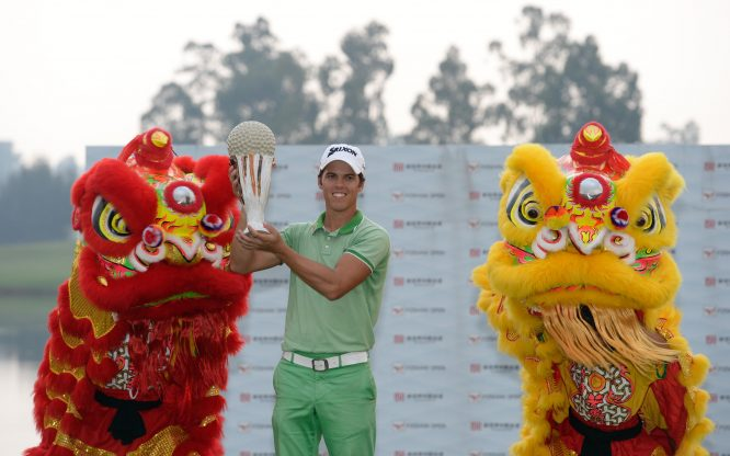 Borja Virto Astudillo during the fourth round of the Foshan Open on 25 October 2015 at Foshan Golf Club, Nanhai, Guangdong Province, China. Mandatory credit: Richard Castka/Sportpixgolf.com