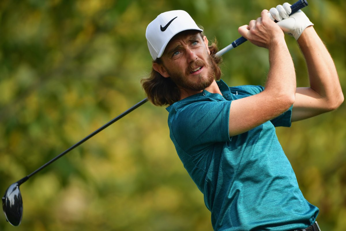Tommy Fleetwood of England tees off during day two of the Italian Open at Golf Club Milano - Parco Reale di Monza on October 13, 2017 in Monza, Italy. (Photo by Stuart Franklin/Getty Images)
