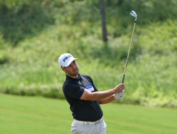 Oliver Farr during round three of the Foshan Open on 21 October 2017 at Foshan Golf Club, Nanhai, Guangdong Province, China. Mandatory credit: Richard Castka/Sportpixgolf.com.