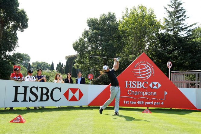 Justin Rose in action at Sheshan International.