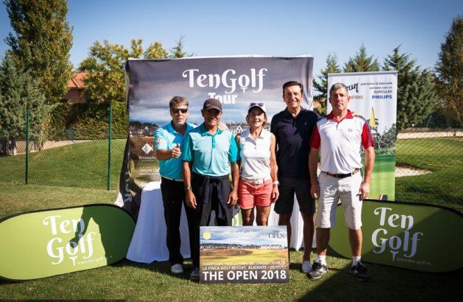 Los cinco finalistas de la prueba de Augusta Golf Calatayud. © Hugo Alcalde