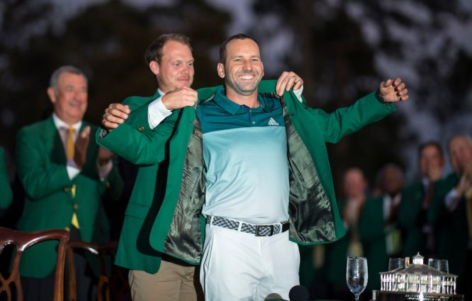 Sergio García, ganador del Masters de Augusta 2017. © Christer Hoglund