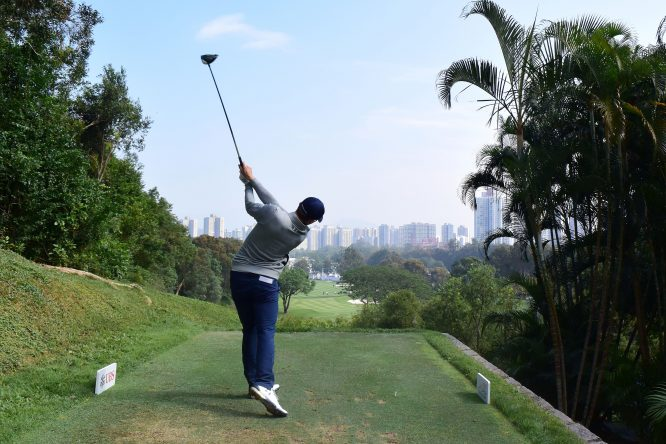 Matthew Fitzpatrick of England pictured during round one of the UBS Hong Kong Open at The Hong Kong Golf Club on November 23, 2017 in Hong Kong, Hong Kong. (Photo by Arep Kulal/Getty Images)