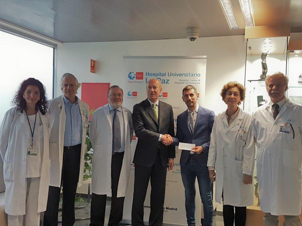 La Fundación Sergio García entrega la recaudación del Andalucía Valderrama Masters al Hospital Universitario La Paz.