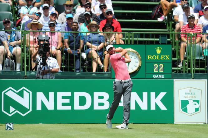 Scott Jamieson of Scotland tees off on the 1st hole during the third round of the Nedbank Golf Challenge at Gary Player CC on November 11, 2017 in Sun City, South Africa. (Photo by Warren Little/Getty Images)