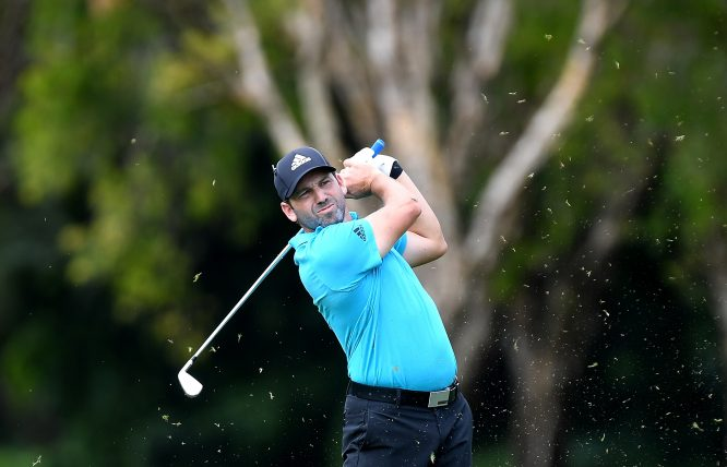 Sergio García of Spain plays a shot during day one of the 2017 Australian PGA Championship at Royal Pines Resort on November 30, 2017 in Gold Coast, Australia. (Photo by Bradley Kanaris/Getty Images)