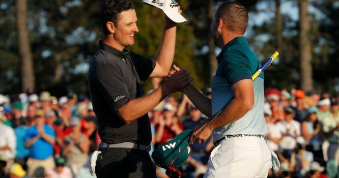 Justin Rose y Sergio García, durante el pasado Masters de Augusta.