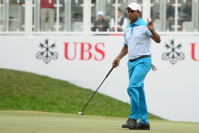 SSP Chawrasia of India pictured during round two of the UBS Hong Kong Open at The Hong Kong Golf Club on November 24, 2017 in Hong Kong, Hong Kong. (Photo by Arep Kulal/Getty Images)