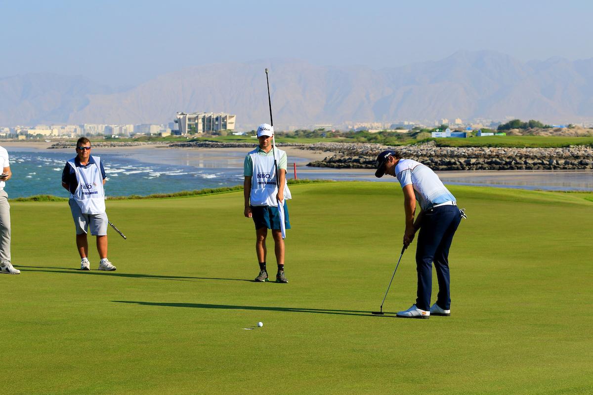 Scott Fernández durante la ronda final del NBO Golf Classic. © Golffile | Phil Inglis